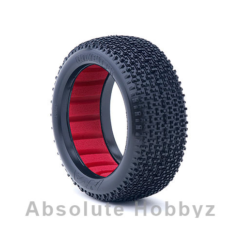 AKA 1:8 Buggy CITYBLOCK Super Soft with Red inserts (one pair)