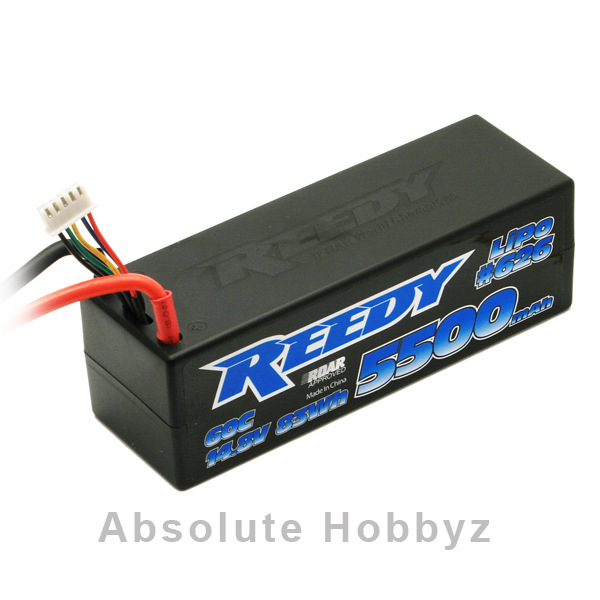 Reedy 4S Competition Hard Case Li-Poly Battery 60C (5500mAh/14.8Volt)