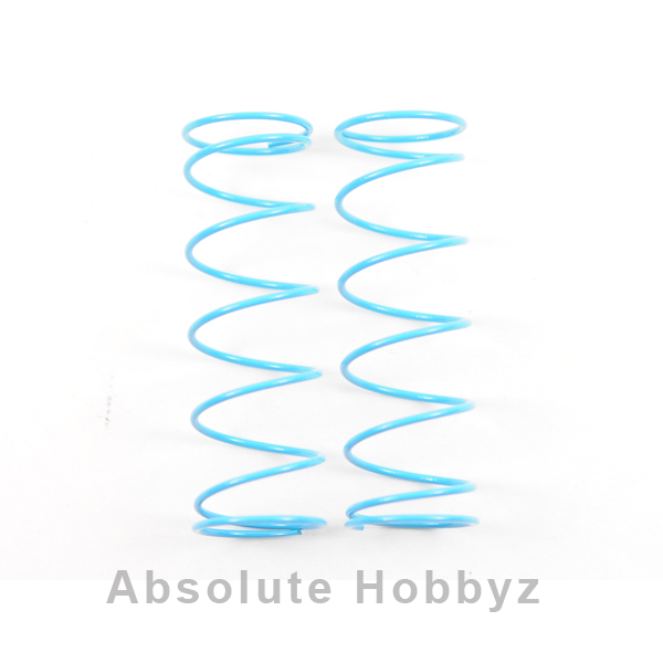 Kyosho 84mm Big Bore Medium Length Shock Spring (Light Blue-Medium/Hard) (2)