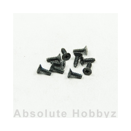 Kyosho 1-S32608TP TP Flat Head Screw (M2.6x8) (10pcs)