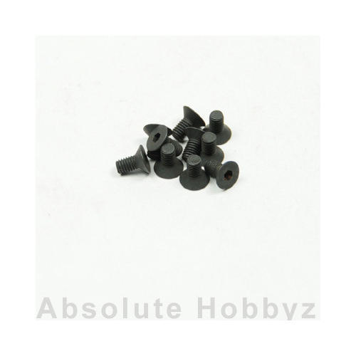 Kyosho 1-S33006H Flat Head Screw(Hex/M3x6) (10pcs)