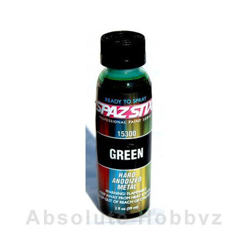 Spaz Stix Green Airbrush Paint (2oz Bottle)