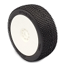 AKA P1 1/8 Buggy Pre-Mounted Tires (White) (Soft Long Wear) (2)