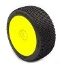AKA P1 1/8 Buggy Pre-Mounted Tires (Yellow) (Super Soft) (2)