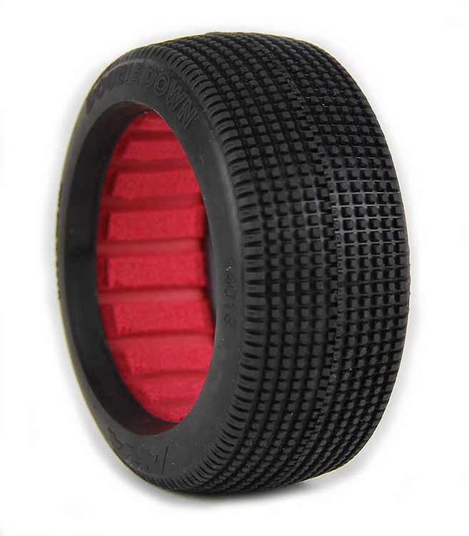 Buggy 2 AKA 1//10 Chain Link 2.2 Super Soft Rear Tire with Red Insert
