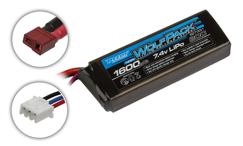 Battery Lipo Lithium 1600 MAH 7,4 V 30 C Fuel
