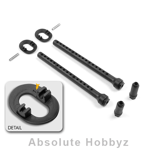 XRAY Adjustable Front Body Mount Set (+1mm)