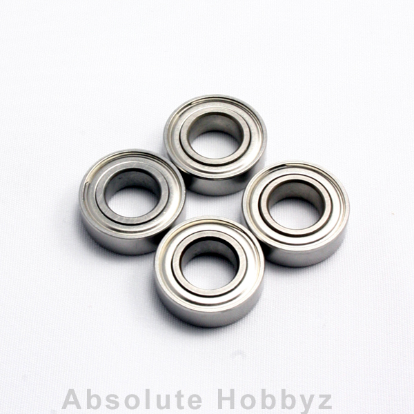 AHZ R/C 8x16x5mm Metal Shielded 1/8 Wheel Bearings (4pcs)