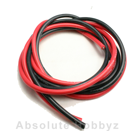 AHZ Silicone Wire 10 Gauge Red / Black (4ft each)