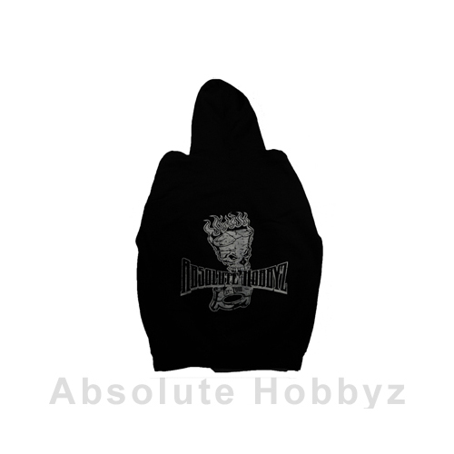 Absolute Hobbyz Black Pull Over Nitro Skull Hoodie (2X-Large)