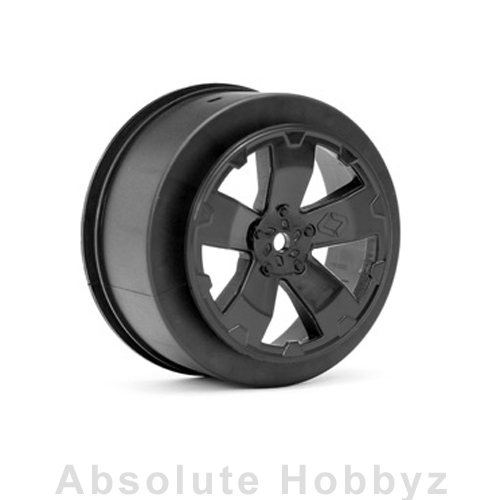 Avid RC Sabertooth SC10 +3mm Wheel | Black | (1 Pair)