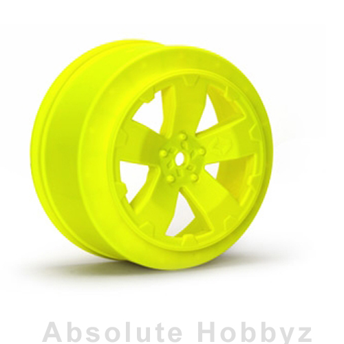 Avid RC Sabertooth SC10 +3mm Wheel | Yellow | (1 Pair)