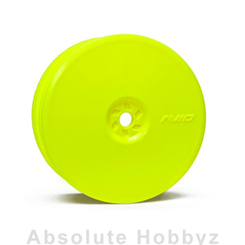 Avid RC Satellite Rear Wheel (B4, 22, RB5) | 12mm Hex | Yellow Pair