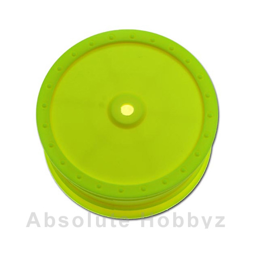 DE Racing 1/10 Scale Wheel (Associated B44) - (front) - Yellow (1pr)