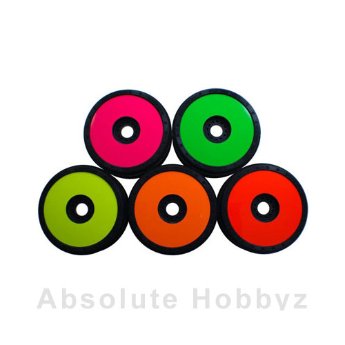 DE Racing 1/8 Buggy Wheel Sticker Disk (Pink) (8pcs)