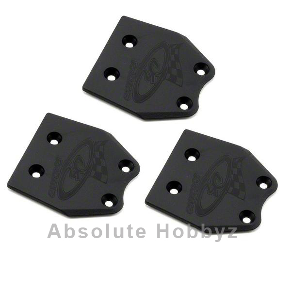 DE Racing XD Rear Skid Plates (3) (HB Racing D8/D8T)