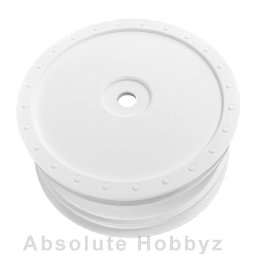 DE Racing 1/10 Scale Wheel (Kyosho ZX-5) - (Front White) 1pr