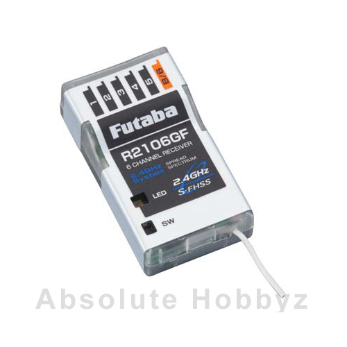 Futaba R2106GF 6-Channel 2.4GHz S-FHSS Micro Receiver