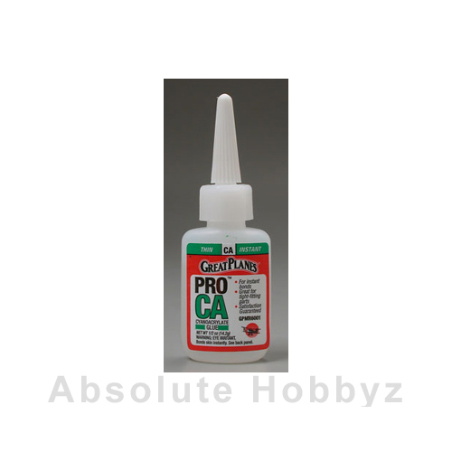 Great Planes Pro CA Glue Thin 1/2 oz