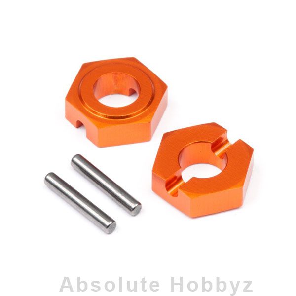 HB Racing Aluminum Hex Hubs 9.8mm Front (2pcs)