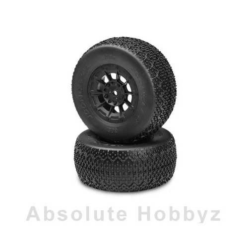 JConcepts 3D's Mountd SC10 RS (Green Compound) Black Hazard Wheel (2)