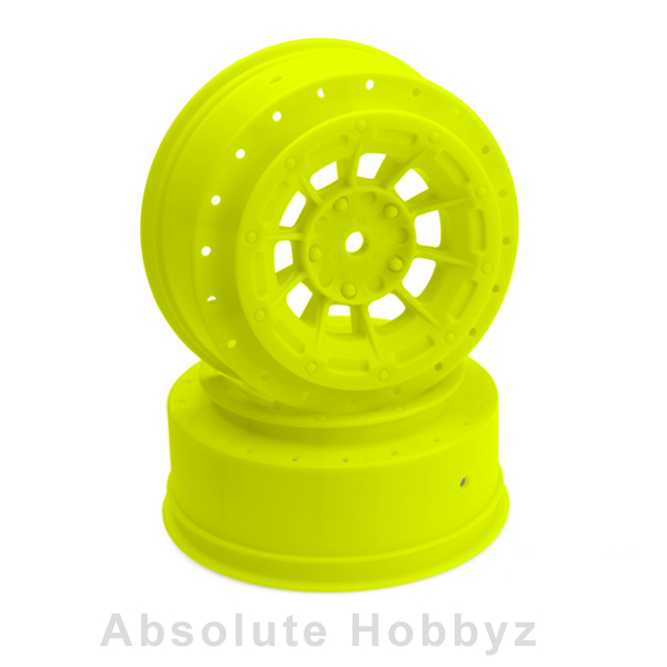 JConepts SC10B - 3mm Wider Off-Set - 12mm Hex Wheel - 2pc. - (Yellow)