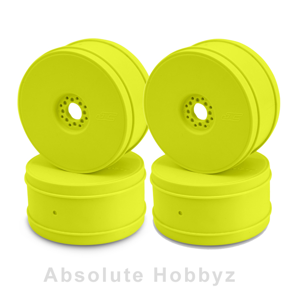 JConcepts 83mm Bullet 1/8th Buggy Wheel (Yellow) (4pcs)