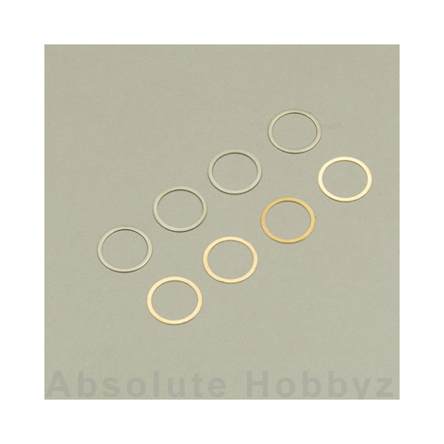 Kyosho 10x12mm Shim Set (0.1mm/0.2mm) (8)