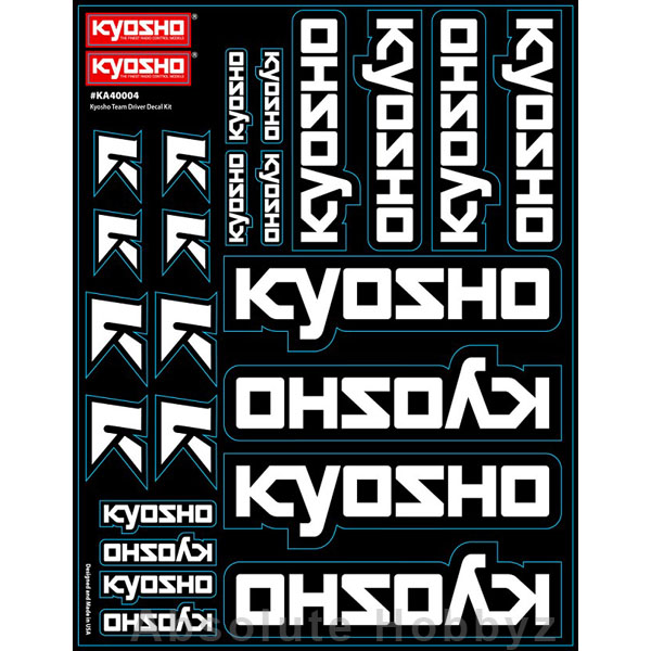 Kyosho Team Decal Sheet Black