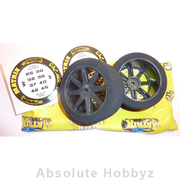 Matrix 1/8 On Road Front Mounted 30 Shore Carbon #5 Wheel (1pr)
