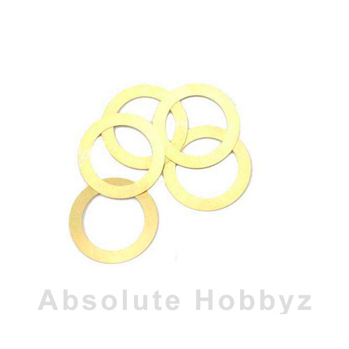 Novarossi Head Gasket Shim 2.1cc 0.15mm/.006in Brass (5pcs)