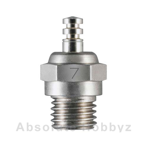 O.S. #7 Glow Plug Medium Hot Air