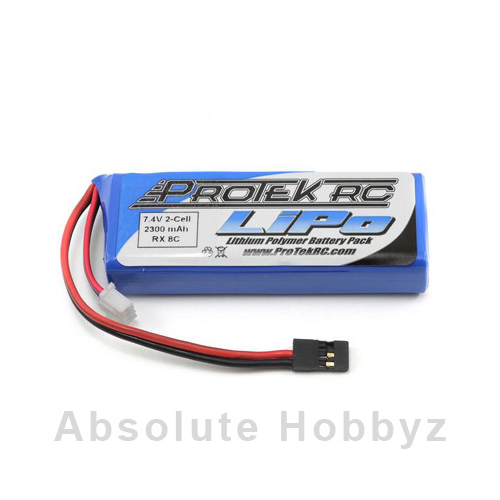 ProTek R/C Li-Poly Flat Receiver Battery Pack (7.4V/2300mAh) (w/Balancer Plug)