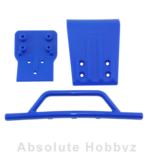 RPM Front Bumper & Skid Plate Blue Slash 4X4