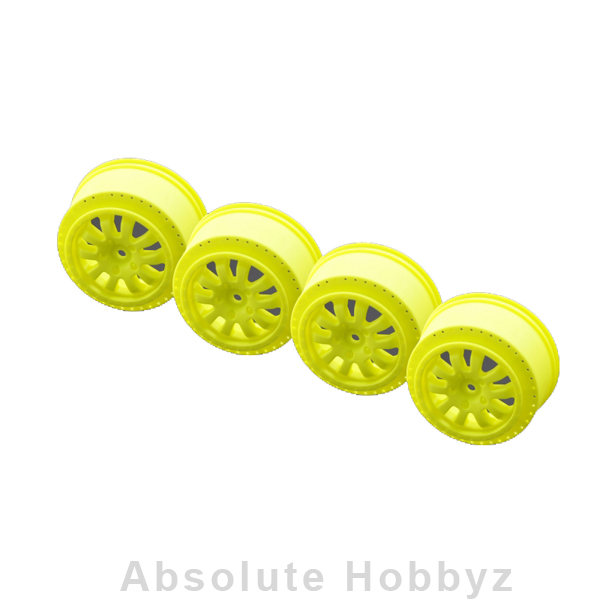 Serpent 2.2/3.0 Short Course Wheel (Yellow) (4)
