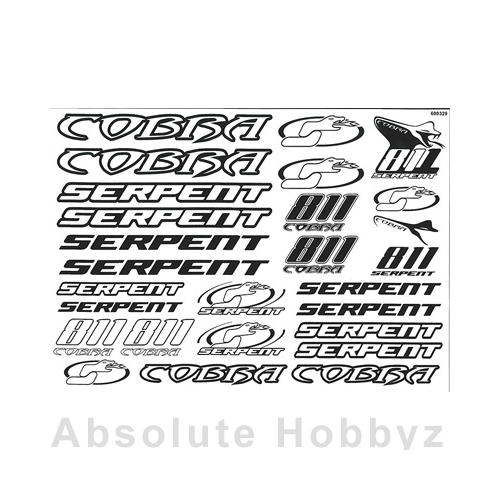 Serpent Decal sheet S811 black/white (2)