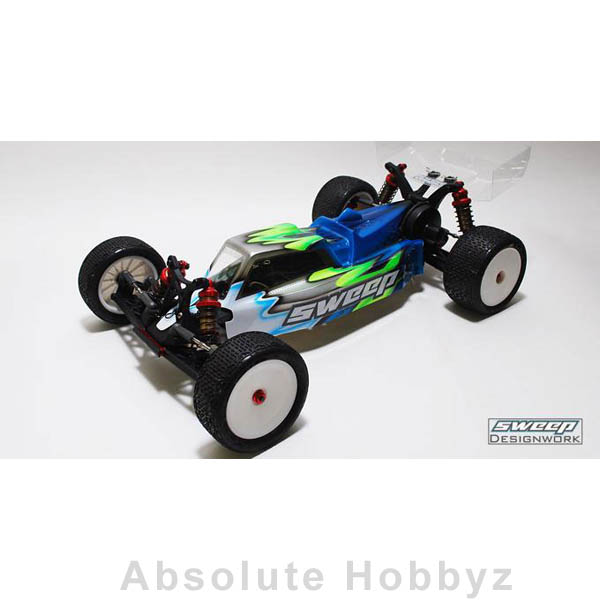 Sweep Racing 10th Buggy Muzzle Clear Body Kyosho RB6 Mid & Rear w/2 Wings Set