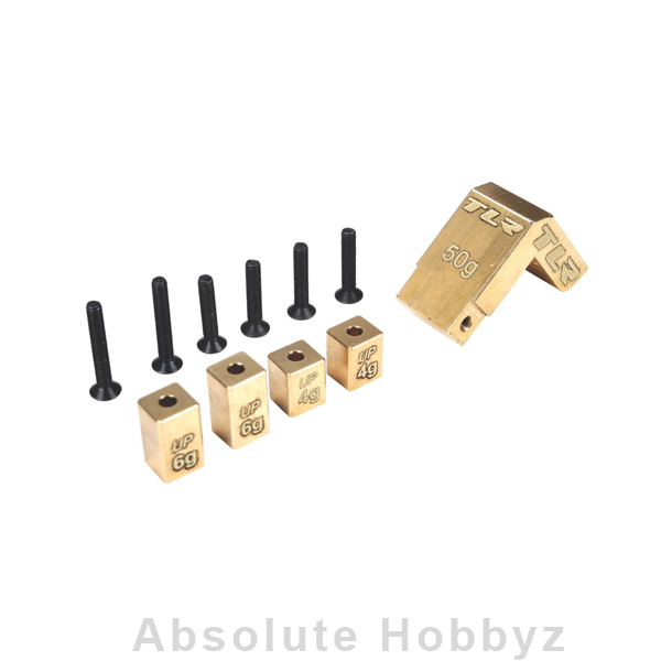 Team Losi Racing Brass Weight System, Mid Motor: 22