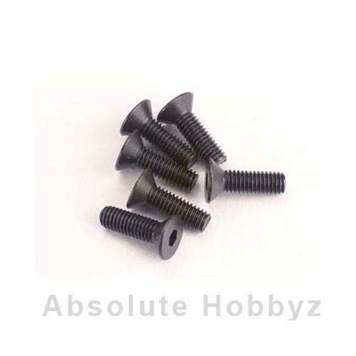 Traxxas Screws, 3x10mm countersunk machine (6) (hex drive)