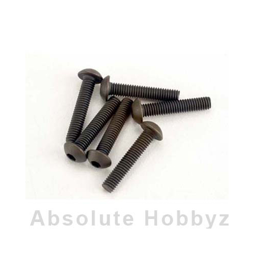Traxxas 3x15mm Button-Head Machine Hex Screws (6)