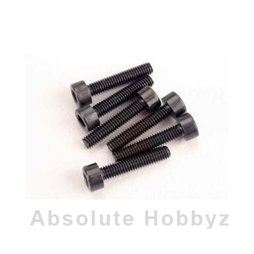 Traxxas Head screws, 3x15mm caphead machine (hex drive) (6) (TRX 2.5)