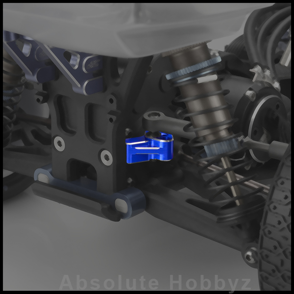 JConcepts Aluminum B5M 4-Hole Rear Camber Link Mount (Blue)