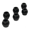 Lunsford Machined Shock Bushings for Lunsford Tekno EB410 / ET410 Shock Mounts (6pcs)