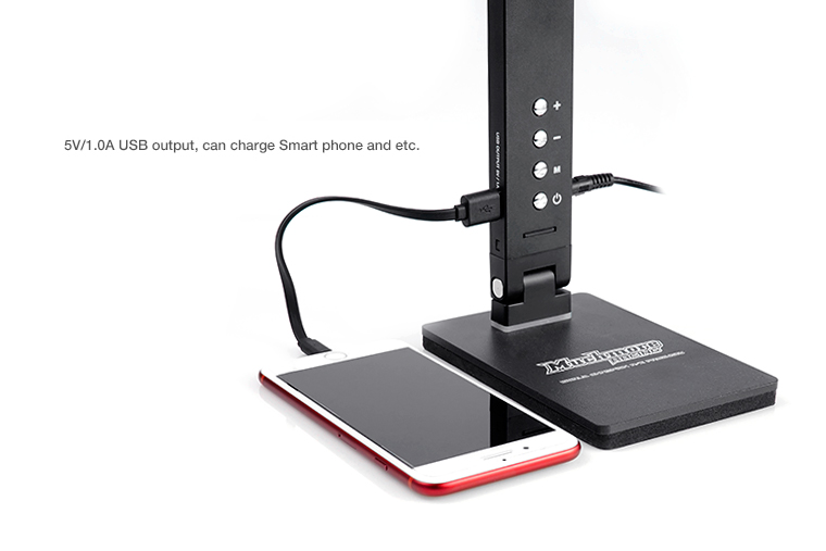 Much-More LED Pit Light Stand Pro Black