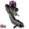 Novarossi 2.5 Super Charged Engine w/51225-206 Pipe Set (T-Maxx) (Turbo Plug)
