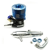 Novarossi S21P5XLT .21 5 Port Off Road Buggy Engine /Turbo Plug (Blue Head Combo)