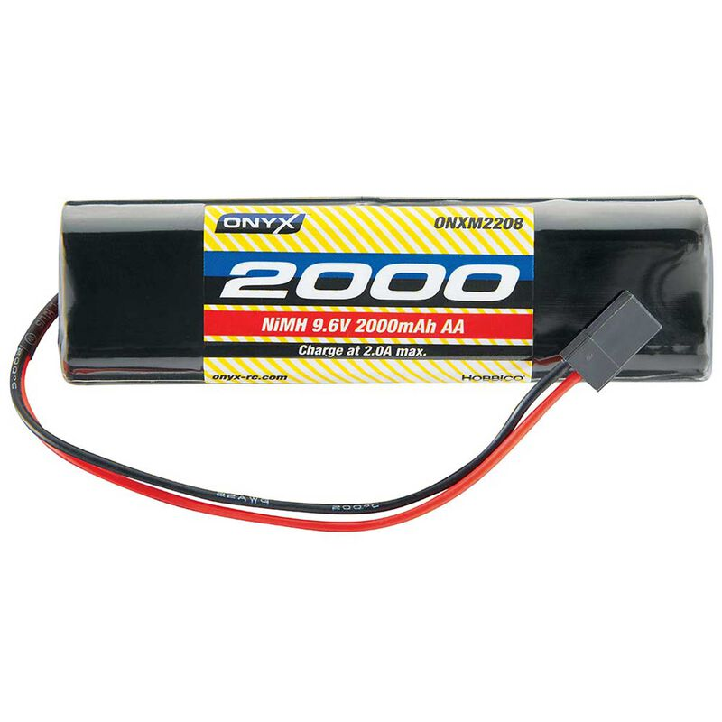 Onyx 9.6V 2000mAh AA NiMH Square Transmitter Battery: Universal Receiver