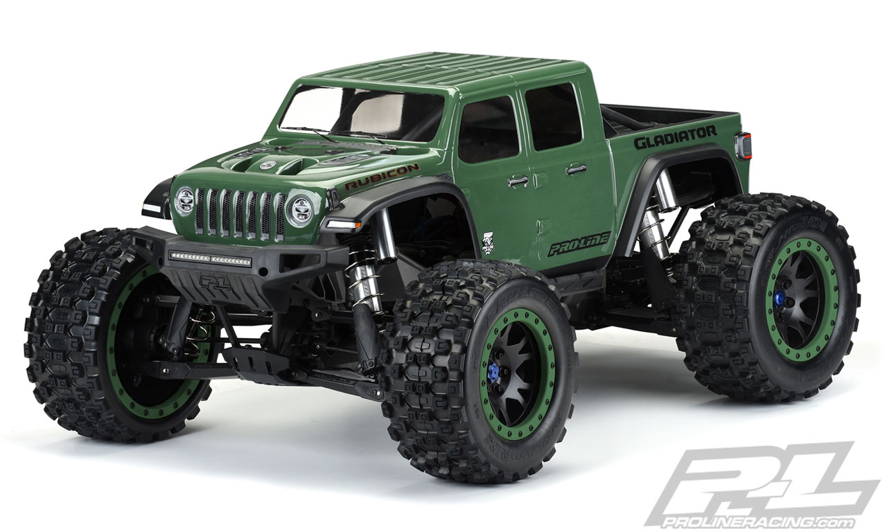 Pro-Line Jeep Gladiator Rubicon Pre-Cut Monster Truck Body (Clear) (X-Maxx)