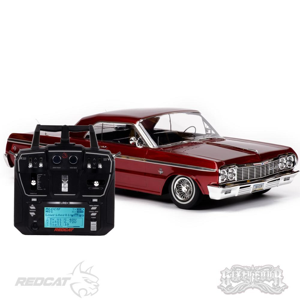 Redcat SixtyFour Fully Functional 1:10 Scale Ready to Run Hopping Lowrider (Red)