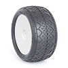 AKA Racing EVO Deja Vu 2.2 Rear Buggy Tires (Pre-Mounted) (Clay) (White) (2Pairs )